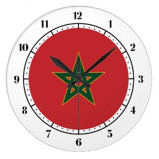 Moroccan flag large clock
