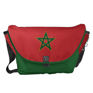 Moroccan flag messenger bag