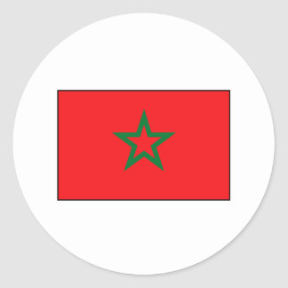 Moroccan Flag T-shirts and Gifts Classic Round Sticker