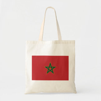 Moroccan flag tote bag