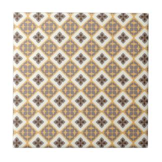 Moroccan Floral Tile Pattern Apricot Mauve