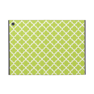 Moroccan fresh lime green tile design pattern chic cover for iPad mini
