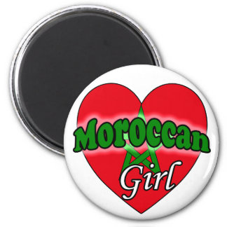 Moroccan Girl 2 Inch Round Magnet