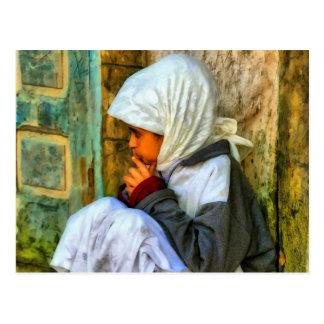 Moroccan girl postcard