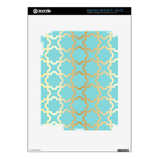 Moroccan gold,mint,tourquise,pattern,girly,trendy, decal for iPad 3