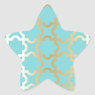 Moroccan gold,mint,tourquise,pattern,girly,trendy, star sticker