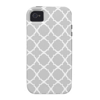 Moroccan Gray pattern Grey Case-Mate iPhone 4 Cases