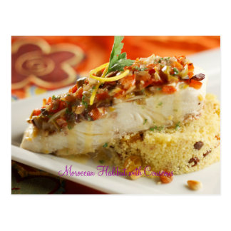 Moroccan Halibut with Couscous Postcard