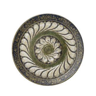Moroccan handicraft design porcelain plate