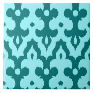 Charming 1 Inch Ceramic Tile Tiny 2 X 4 Ceramic Tile Round 2X4 Ceiling Tile 4X4 Tile Backsplash Young 8 X 8 Ceramic Tile WhiteAcoustical Tiles Ceiling Turquoise Damask Pattern Ceramic Tiles | Zazzle
