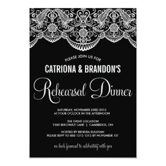 Moroccan Lace Pattern Rehearsal Dinner Invitation