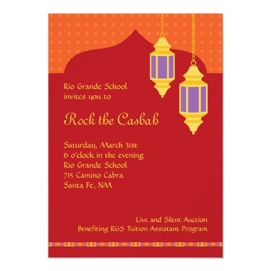 Moroccan Lantern Fundraiser Gala Invitation  Zazzle