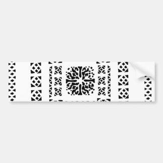 Moroccan Lantern Pattern Bumper Sticker
