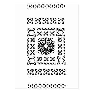 Moroccan Lantern Pattern Postcard