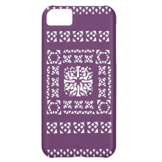 Moroccan Lantern Pattern - Purple and white Case For iPhone 5C