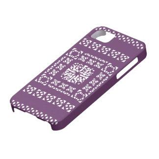 Moroccan Lantern Pattern - Purple and white iPhone 5 Case