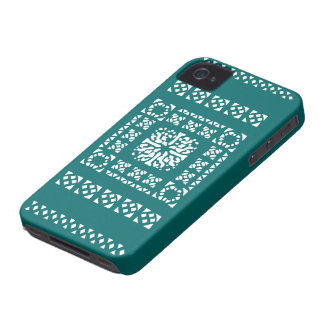 Moroccan Lantern Pattern - Turquoise / Teal Case-Mate iPhone 4 Case
