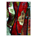 Moroccan Leather Lamps Greeting Card