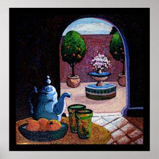 Moroccan mint tea poster