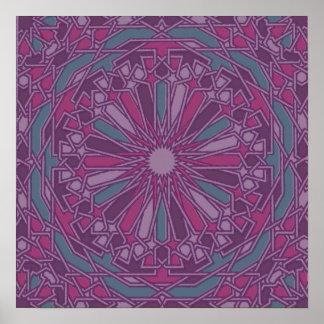 Moroccan Mosaic   Customizable Art Print