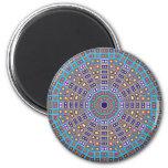 Moroccan Mosaic Kaleidoscope 2 Inch Round Magnet