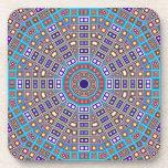 Moroccan Mosaic Kaleidoscope Drink Coaster