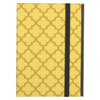 Moroccan mustard yellow tile design pattern chic case for iPad air