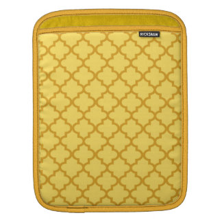Moroccan mustard yellow tile pattern trendy sleeve for iPads