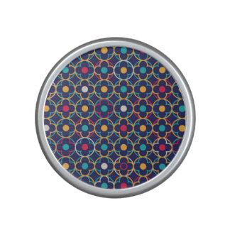 Moroccan,ogee,dark,multi,colours,trendy,pattern, Bluetooth Speaker