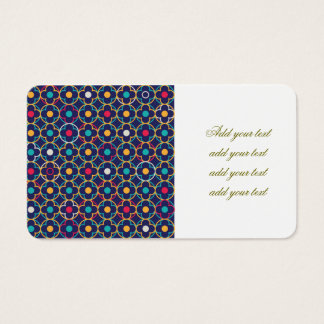 Moroccan,ogee,dark,multi,colours,trendy,pattern, Business Card