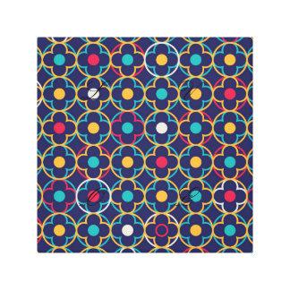 Moroccan,ogee,dark,multi,colours,trendy,pattern, Canvas Print