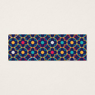 Moroccan,ogee,dark,multi,colours,trendy,pattern, Mini Business Card