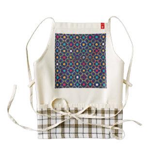 Moroccan,ogee,dark,multi,colours,trendy,pattern, Zazzle HEART Apron