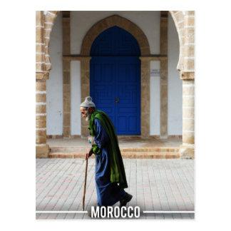 Moroccan Old Man - Essaouira Morocco Postcard