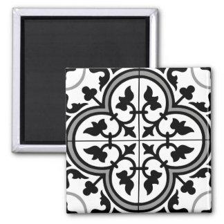 Moroccan Ornamental Tile Pattern 2 Inch Square Magnet