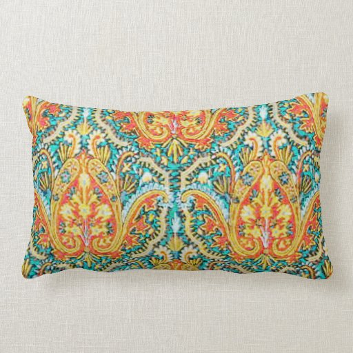 Blue and Orange Pillows