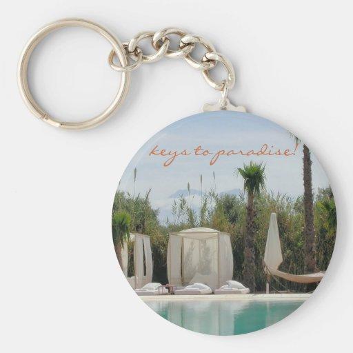moroccan paradise key chain