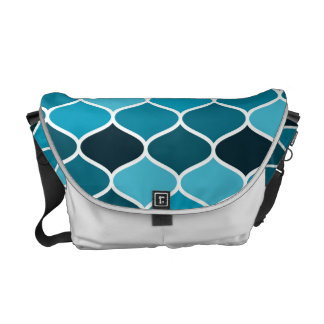 Moroccan pattern courier bag