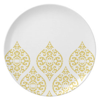 Moroccan pattern; Gold Dinner Plate