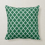 Moroccan Pattern | Hunter Green Throw Pillow