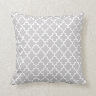Moroccan Pattern | Light Grey Throw Pillow