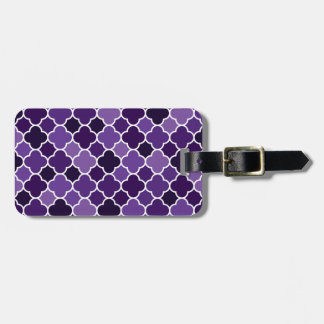 Moroccan pattern luggage tag