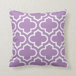 Moroccan Pattern Pillow in African Violet