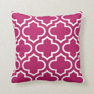 Moroccan Pattern Pillow in Madder Carmine