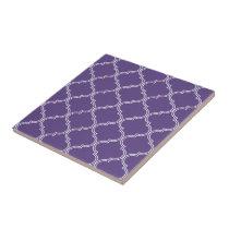 Moroccan Pattern | Rich Purple Ceramic Tile
