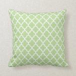 Moroccan Pattern | Sage Green Throw Pillow