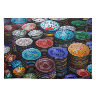 Moroccan Plates At Market Placemat