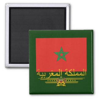 """""""Moroccan Pride 2"""" 2 Inch Square Magnet"""