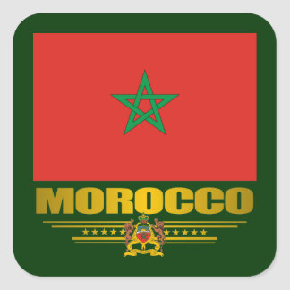 """Moroccan Pride"" Square Sticker"