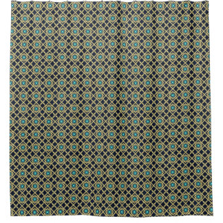 brown and turquoise shower curtain. Moroccan Print tiles navy blue gold turquoise Shower Curtain Turquoise Blue Curtains  Zazzle